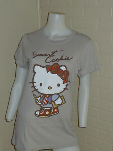 NEW HELLO KITTY SMART COOKIE SCHOOL GIRL ACADEMIC SHIRT TOP SMALL