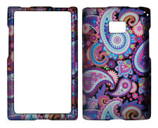 Purple Color Paisely  for LG Optimus Logic / Dynamic L38c / L35g / L3 Case Cover