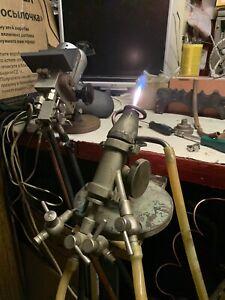 Vintage Cannon-Fire Glassblowing Bench Torch Burner
