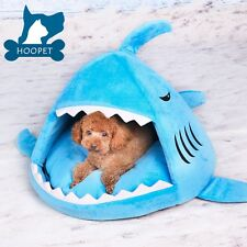 Shark Dog Cat Pet Canopy Teepee Tent House Bed Kennel With Matching Pad