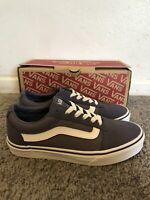 Vans Ward Blue Gray Sneaker Suede / Canvas Women's Size 6 NIB Free Shipping!