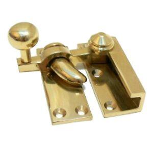 Solid Brass Victorian Quadrant Arm Sash Fastener reproduction window lock