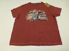Mantaray Mens Size 3XL Mountain Caravan Pink T Shirt New With Defects