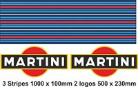 MARTINI STRIPES MARTINI LOGO  | Sticker  Decal Graphic | Le Mans RALLY CAR |