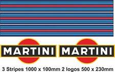 MARTINI STRIPES MARTINI LOGO  | Sticker  Decal Graphic | Le Mans RALLY CAR |
