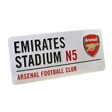 ARSENAL FC Emirates Stadium Panneau de rue BLANC ROUGE enfants Officiel