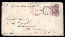 GB 1868 6d Plate 6 SG109 on cover to USA WS15234