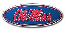 Mississippi Ole Miss Rebels Metal Color Auto Emblem Chrome Decal University of