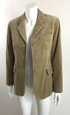 Women's THEORY Tan Corduroy Blazer Jacket 3-button Front Size M