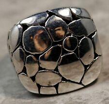 Vintage John Hardy 925 Sterling Silver Dome Cobblestone Ring