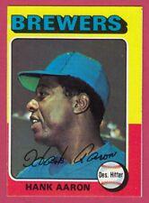 1975 Topps # 660 Hank Aaron -- Milwaukee Brewers -- Box 704-440