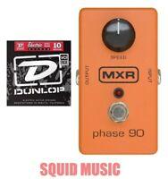 MXR Phase 90 Guitar Effects Pedal M-101 ( 1 SET OF DUNLOP GUITAR STRINGS ) M101