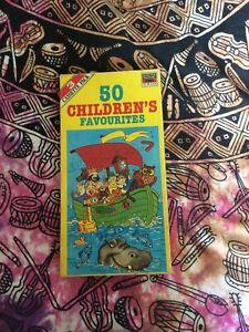 50 Children's Favourites 3 Cassette Pack, Vintage Well Loved Childrens Songs