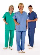 Medical Scrub Uniform TUNIC & TROUSER Set, Unisex NHS Compliant Hospital Suit