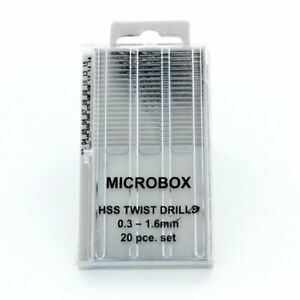 Modelcraft PDR4001 Set Micro Forets 0,3 -1, 6mm (20pz) Modélisme