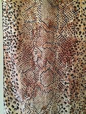 Vintage CYBÉLE Ladies Indian Silk Scarf Snakeskin Animal Print