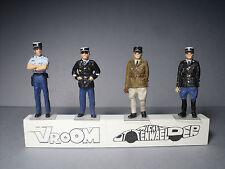 4  FIGURINES  1/43  SET  325  GENDARMERIE  POLICE  NATIONALE  VROOM  UNPAINTED