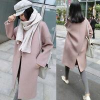 Korean Winter  Women Warm Thicken Wool Parka Trench Coat Long Jacket Overcoat cc