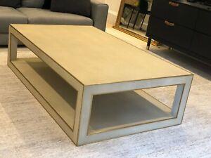 Restoration Hardware Cela Shagreen Rectangular Coffee Table.  Brand New w/ Box
