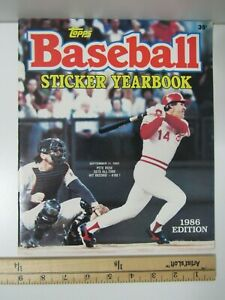 Vintage 1986 Topps BASEBALL Empty Sticker Yearbook PETE ROSE Cover MLB