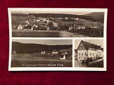 Ansichtskarte Kretscham - Rothensehma im Erzgebirge, Dreifachansicht um 1940