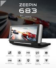 Car Quad Core 7 Dash Cam 4G Rearview Android WiFi GPS ADAS Recorder DVR G-sensor