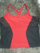 Nike Fit-Dry Coral / Gray Athletic Mesh Tank Top Sz XL (16-18) Built In Bra