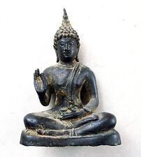 Buddha Thailand 18. Jahrhundert Lotossitz Bronze-Guß Ermutigungsgeste 18 cm hoch