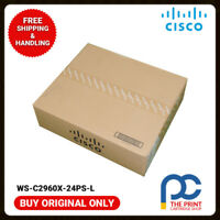 Original CISCO WS-C2960X-24PS-L Catalyst 2960X Switch 24 Port PoE 1YEAR WARRANTY