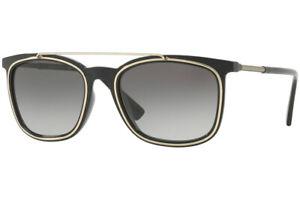 Authentic VERSACE VE4335-GB1/11 Sunglasses Black / Grey Gradient  *NEW* 56 mm