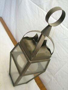 Brass Glass Panel Decorative Post Light Globe Chandelier Porch Lamp Light