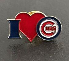 Chicago Cubs Pin    - I heart Cubs Pin.