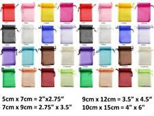 Premium Organza Bags 5x7, 7x9, 9x12, 10x15cm in quantities of 1, 50, or 100