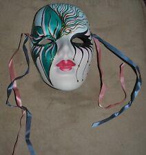 Mardi Gras Decorative Face Mask Wall Decor Ceramic Hand Painted