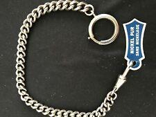 Ancienne Chaîne de Montre à Gousset NICKEL 24 cm 24 gr - Vintage Fob Watch Chain