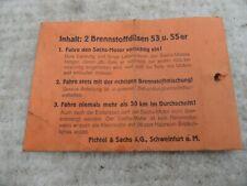 alter leerer Umschlag für Düsen vom Vergaser 98er 98ccm Fichtel Sachs DEKO