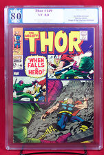 Thor #149 (Marvel 1968) PGX (not CGC) 8.0 VF Inhumans Origin  & The Wrecker HTF!