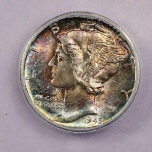 1945-D 1945 Mercury Dime ICG MS65 Beautifully Toned! WOW!