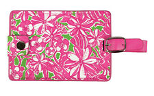 NEW Lilly Pulitzer Luggage Tag CORONADO CRAB Travel ID Tag Pink & Green