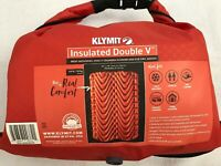 Klymit Double V Double-Wide Two-Person Sleeping Pad Insulated - Orange - NEW