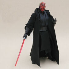 1:12 Scale Black Cape Robe Coat With Hat For Bandai SHF Darth Maul (no figure)