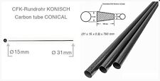Carbon Fibre Tapered Tail Boom Tube (31-15 x 0.9 x 790mm) R/C Gliders -UK Stock