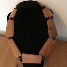 Wooden Statement Chunky Flat Beads Necklace Bohemian Tribal Costume Jewellery