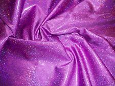 PURPLE HOLOGRAM MYSTIQUE-LIKE 4 WAY STRETCH DANCE COSTUME FABRIC 1.125 YD
