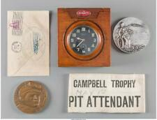 A 1933 Malcolm Campbell-Signed Speed Trials Cachet, Sterling Silver. Lot 65088