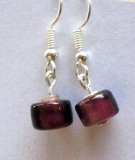 Wine coloured glass beaded EARRINGS Jewellery