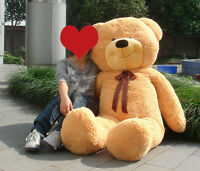 Dark Brown Teddy Bear Big Stuffed Animal Plush 63'' Huge Soft Toy 160Cm Kid Gift