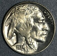 1934-D 5c BUFFALO NICKEL, GRADE AU,  SKU-2354