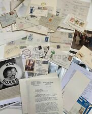 Autograph & Unsigned Ephemera Lot - 100 Items - Entertainment & History