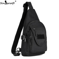 be97fd94c593 Men Tactical Sling Chest Backpack Messenger MOLLE Assault Climbing Shoulder  Bags